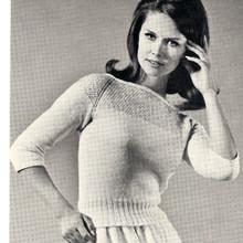 Sequin Yoke Knitted Sweater Pattern
