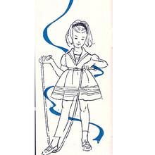 Toddler Sailor Dress Crochet Illustration