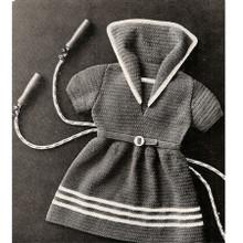Little Girls Crochet Sailor Dress Pattern