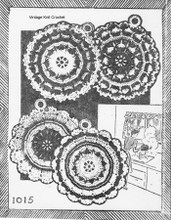 Scalloped Crochet Potholders Pattern, Needlework Bureau 1015
