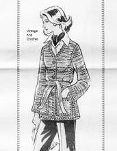 Mail Order Jacket Knitting Pattern, buttoned, Design 727