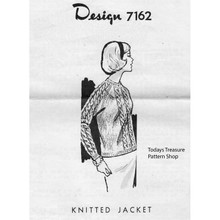 Mail Order Design 7162, Knitted Cable Jacket Pattern