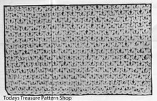 Knitted Jacket Pattern Stitch Illustration
