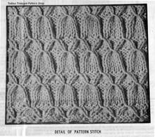 Mail order Jacket Knitted Pattern stitch