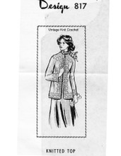 Plus Size Knitted Jacket Pattern, Mail Order 817