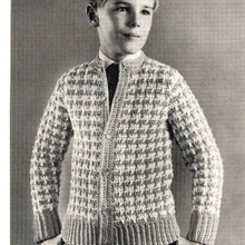 Checked V-Neck Boys Jacket Pattern
