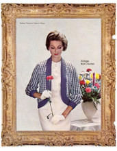 Vintage Knitted Shrug Jacket Pattern, Checked