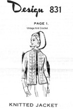 Knitted Jacket Pattern Raised Leaf Mail Order 831