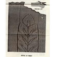 Leaf Knitted pattern stitch