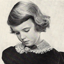 Girls Peter Pan Crocheted Collar