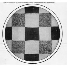 Vintage Crochet Rug Pattern in Three Color Checkerboard