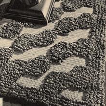 Vintage Tufted Crochet Rug Pattern, Oblong