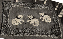 Vintage Kittens Rug Crochet Pattern from American Thread