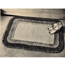 Crochet Rug Pattern with Loop Stitch Border