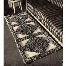 Crochet Tufted Runner Pattern in Diamond Motif