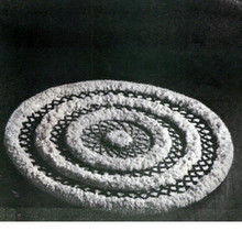 Round Puff Ball Crochet Rug pattern