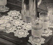 Vintage Crochet Glass Mats Pattern Set