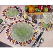 Pansy Bordered Crochet Mats Pattern