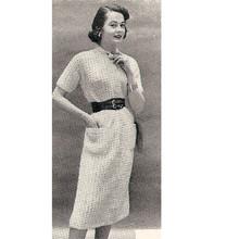 Short Sleeve Knitted Dress Pattern