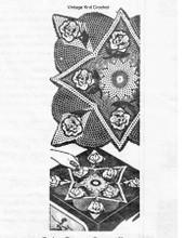 Mail Order Square Crochet Centerpiece doily Pattern, Laura wheeler 808