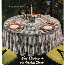 Large Round Crochet Tablecloth Pattern