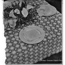 Crochet Sunburst Medallion Tablecloth pattern