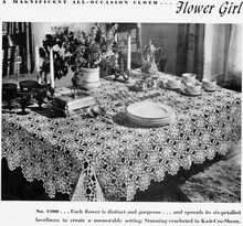 Crocheted Flower Girl Medallion Tablecloth Pattern