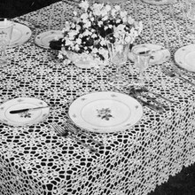 Vintage 1950s Crochet Tablecloth Pattern, True Love