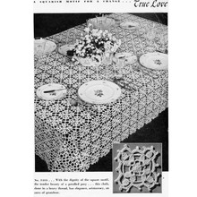 Vintage Crochet Posy Tablecloth Pattern of small medallions
