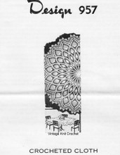 Round Crochet Tablecloth Pattern, Pineapples, Mail Order 957