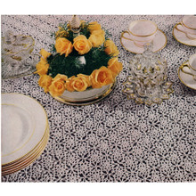 Gold Silver Spangled Motif Tablecloth Crochet Pattern