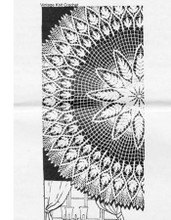 Mail Order Crochet Fern Tablecloth, Round, Mail Order 510