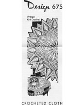 Large Pineapple Cloth Pattern, Mail Order Design 675