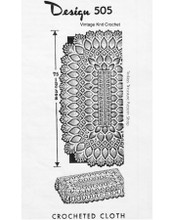 Crocheted Pineapple Tablecloth Pattern, Mail Order 505