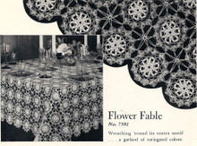 Crochet Flower Fable Tablecloth Pattern
