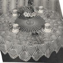 Vintage Pineapple Wheel Crochet Tablecloth Pattern