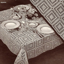 Vintage 1950s Crochet Tablecloth pattern, Cambridge