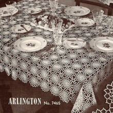 Crocheted Arlington Tablecloth pattern, Vintage 1950s
