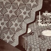 Vintage Star Crochet Tablecloth pattern, Aurora