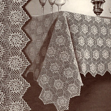 Vintage Fairfax Crochet Tablecloth Medallion Pattern