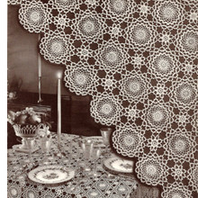 Vintage Winthrup Round Flower Medallion Pattern for Tablecloth