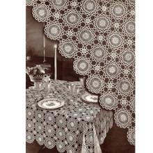 Vintage 1940s, Tablecloth Crochet Pattern, Winthrup