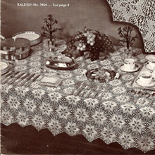 Vintage Star Medallion Crochet Tablecloth pattern