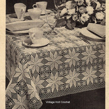Shining Star Crochet Tablecloth Crochet Pattern