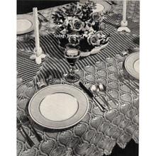 Crocheted Pineapple Bedspread Tablecloth Runner Pattern