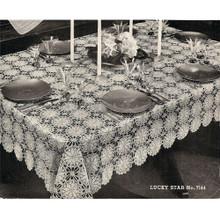 Crochet Lucky Star Medallion Tablecloth Pattern