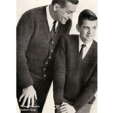 Father Son Vintage Crochet Cardigan Pattern