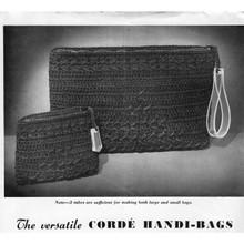 Crochet Clutch Bags Pattern in Corde