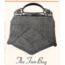 Vintage Fan Bag Crochet Pattern
