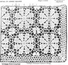 Crochet Flower Squares Illustration for Plus Size Jacket